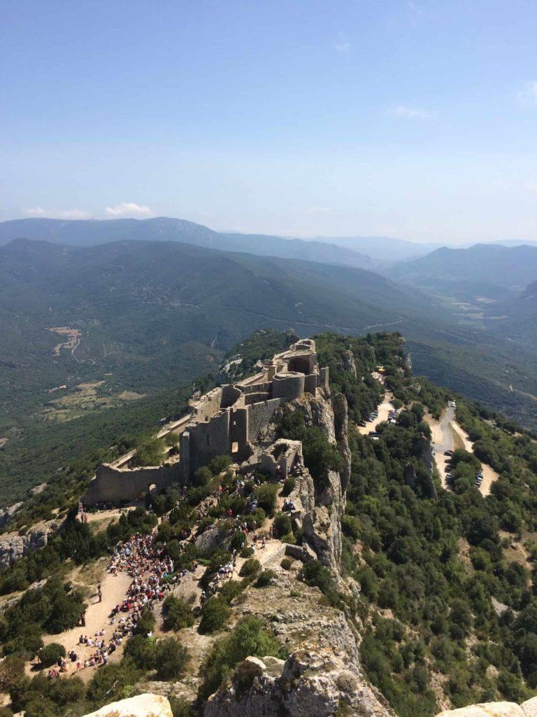 chateau Cathare Peyrepertuse camping La Bernede